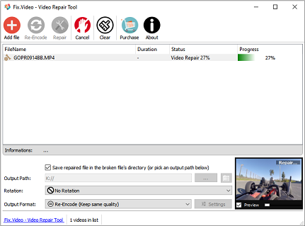 Video Repair tool software